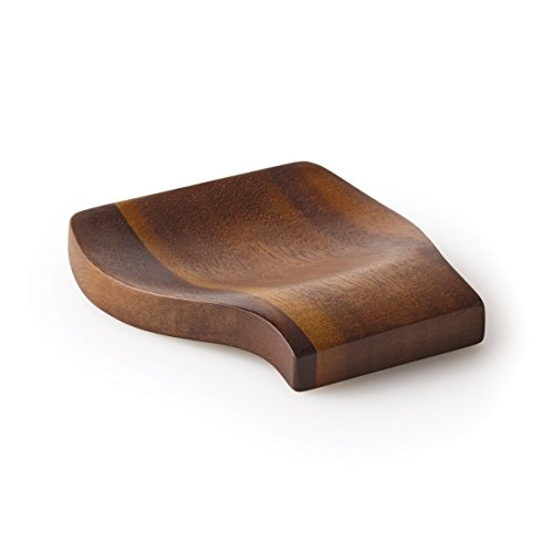 Kamenstein 5186011 Acacia Wood Spoon Rest, 4.75-Inch, Natural