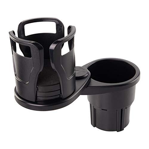 ZaRoing ドリンクイン マルチ カップ ホルダー車用ドリンクホルダー 車載 カップホルダー2 in 1多機能 360°回転 調節可能 7.4-15cm ボトル+カップに対応