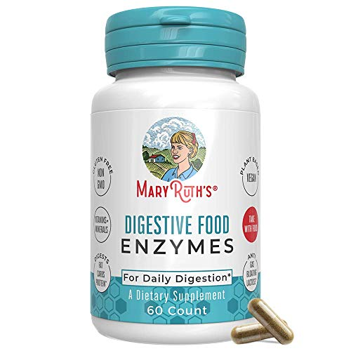 Vegan Digestive Food Enzymes (GMP Certified + Tested) by MaryRuth's - Enzyme Complex for Daily Digestion - Over 12 Enzymes Including Amylase, Lipase, Lactase + Cofactor Vitamins & Minerals - 60 Count