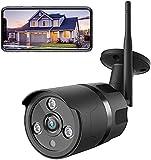 NETVUE Überwachungskamera Aussen, 1080P WLAN Kamera, Videoüberwachungskamera Außen WLAN IP66 Wasserdich, IP Kamera mit Alexa und 2-Wege-Audio Schwenkbare Kamera Bewegungserkennung (Schwarz)