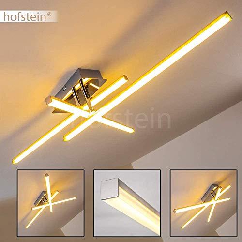 LED Deckenleuchte Powassan, moderne Deckenlampe in Chrom, 3-flammig mit verstellbaren Lichtleisten, 3 x 5 Watt, je 500 Lumen (1500 Lumen insgesamt), 3000 Kelvin (warmweiß)