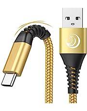 Yosou Cavo USB C,Cavo USB Tipo C 2M Cavo di Ricarica Rapida 2Pezzi Carica Caricabatterie per Samsung S20 S21 S8 S9 S10 A40 A11 A12 A41 A42 A50 A51 A52 A71 A20e A21s,Huawei P9 P20 P10 P30,Xiaomi,Sony