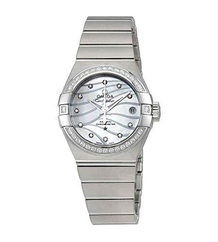 Omega Constellation Co-Axial Reloj de señoras automático con esfera de madre perla 123.15.27.20.55.002