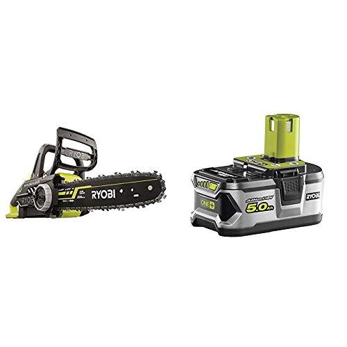 Ryobi OCS1830 18 V 30 cm Bar ONE+ Cordless Brushless Chain Saw & RB18L50 ONE+ Lithium+ 5.0Ah Battery, 18 V