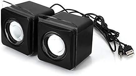 Justdodo Maikou USB 3.5mm Aux Wired Altoparlante Music Player Mini 2.0 Canali Altoparlante multimediale per MP3 Telefono Notebook Desktop - Nero - Trova i prezzi più bassi