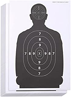 Juvale Shooting Range Paper Silhouette Targets for Firearms (17 x 25 in, 50 Sheets)