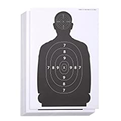 LARGE SUPPLY OF SHOOTING RANGE TARGET POSTERS: This pack of 50 silhouette shooting range target posters features a human silhouette and 2 zone target areas, one on the head, and one on the chest IDEAL FOR A WIDE RANGE OF FIREARMS AND GUNS: Useable wi...