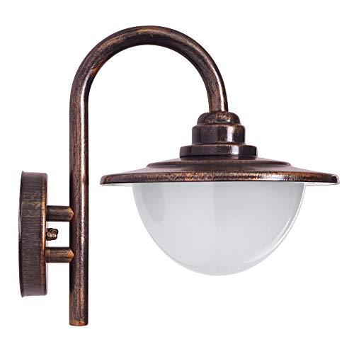 E27 Aussenleuchten Wand-leuchte Wandlampe Alt Kupfer kalssisch IP44 RUMA-A