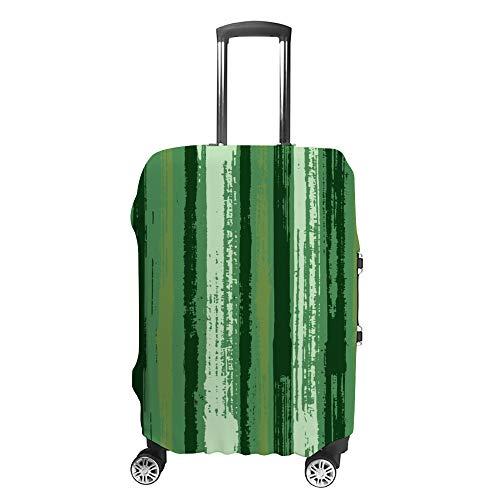 Ruchen - Funda Protectora para Maleta, diseño de Rayas, Color Verde