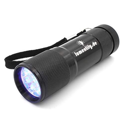 Lumentify - Torcia UV 400 nm – Pratica e maneggevole lampada per stimolare in modo efficiente i tessuti e prodotti fluorescenti