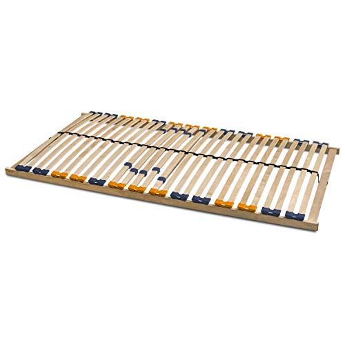 Coemo 7 Zonen Lattenrost MULTIRA - starr, 28 Leisten Lattenroste, Mittelgurt, 120 x 200 cm, preisgünstiger Bausatz