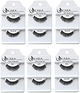 Kara Beauty Human Hair Eyelashes - 66 (6PCS)