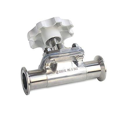 "LiFuJunDong 1.5"" Sanitary Diaphragm Valve Stainless Steel 316 Tri-Clamp EPDM PTPE Silicone by LiFuJunDong"