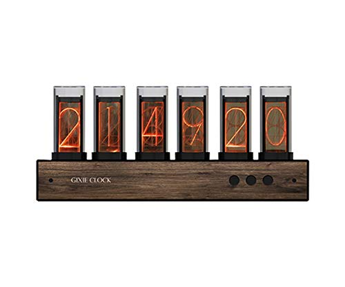 JINGz Nixie Tube Clock Gixie Clock Creative Digital Variable Color Clock LED Digital Clock Steins;Gate Divergence Meter Christmas New Year Birthday Valentine's Day School Gift