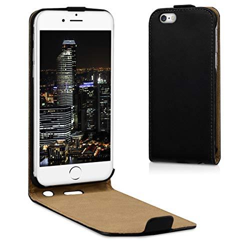 kwmobile Funda Compatible con Apple iPhone 6 / 6S - Carcasa para móvil de Cuero sintético - Case en Negro