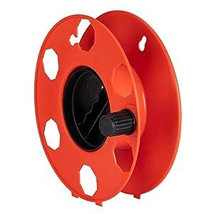 Poly Pool PP2603 Rolly - Rodillo enrollador para transportar y ordenar cables, extensiones eléctricas, cuerdas, tubos flexibles, rojo
