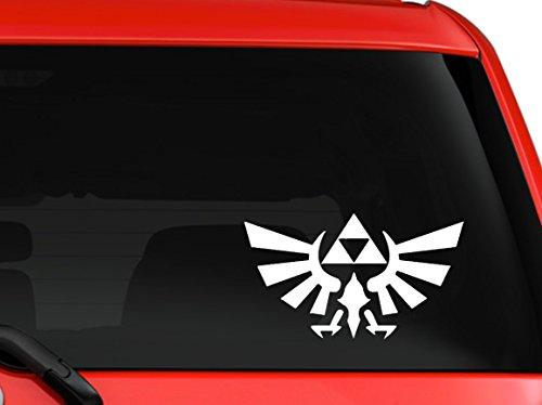 Legend of Zelda Logo Symbol Nice car Truck SUV Window Laptop Kitchen Wall MacBook Decal Sticker Approx 6 inches White