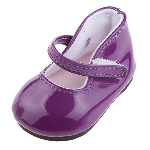 Mini Paire Néon Chaussures Pour Poupée Doll 18 Pouces Accessoire - Violette