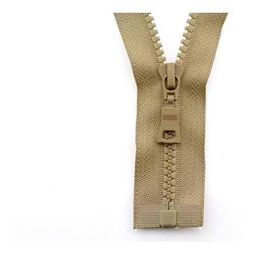 Linyuex Zipper 5# 3pcs Open-end Auto Lock ECO Colorful Plastic Resin Zipper For Clothes Garment (Color : 15, Size : 55 cm)