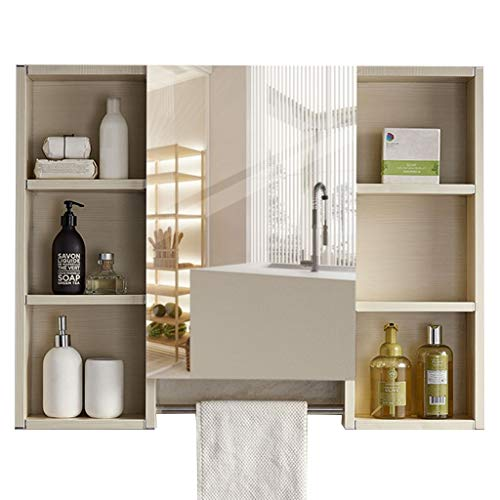 Spiegelkasten ruimte aluminium badkamer 90cm muur muur spiegel box ijdelheid opbergkast wandkast Wandmontage Vanity Spiegels