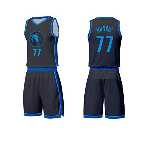 BXWA-Sports Maillot de Basket Dallas Mavericks 77# Luka Doncic Respirant R/ésistant /À lusure de Basket-Ball Uniforme de Remise en Forme Sport T-Shirt Maillots