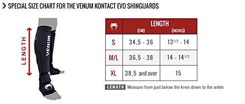 """Venum """"Kontact Evo"""" Shin Guards, X-Large, Black"""