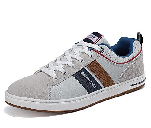 ARRIGO BELLO Zapatillas Hombre Vestir Casual Zapatos Deportivas Sneaker Transpirables Cómodo Running Caminar Correr Trainer Tamaño 41-46 (Oscuro, Numeric_43)