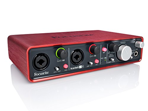 Focusrite Scarlett 2i4 Interface audionumérique USB 2.0 2 entrées/4 sorties Noir