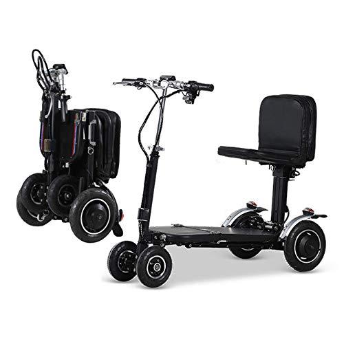 Life Equipment Scooter de movilidad de 4 ruedas Dispositivo eléctrico para silla de ruedas Dispositivo móvil compacto de alta resistencia para viajes Adultos Ancianos Batería extendida de largo alc