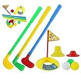 Ballylelly 1 Jeu de Jouets de Golf en Plastique Multicolore pour Les Enfants Jeu de Sport en Plein air