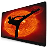 VINISATH Alfombrilla Gaming,Kungfu Taekwondo Kickboxing Red Mars,con Base de Goma Antideslizante,750×400×3mm