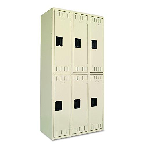 Tennsco 36 by 18 by 72 Double Tier Locker, 6-Locker Unit, Sand