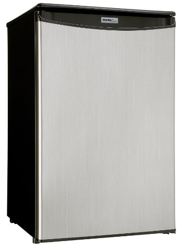 Danby DAR044A4BSLDD-6 4.4 Cu.Ft. Mini Fridge, Compact All Refrigerator for Bedroom, Living Room, Bar, Dorm, Kitchen-in Stainless Steel Look