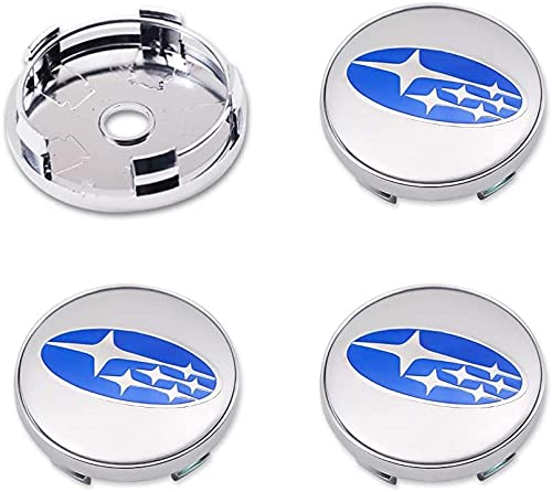 4 Piezas 60mm Coche Tapacubos para Subaru Impreza Forester Tribeca XV BRZ, con Emblema De Insignia Embellecedor Central De Llanta De Rueda Cubre Car-Styling Accesorios
