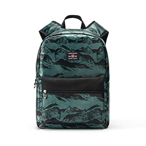 """17"""" Travel Laptop Backpack Water Resistant with USB Charging Port for Women & Men School College Students Backpack Fits 15.6"""",15"""",14"""" Laptop (Valley Mountain Pattern-Green)"""