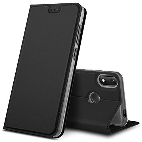 GeeMai Wiko View Max Hülle, Premium Flip Hülle Tasche Cover Hüllen mit Magnetverschluss [Standfunktion] Schutzhülle Handyhülle für Wiko View Max Smartphone, Schwarz