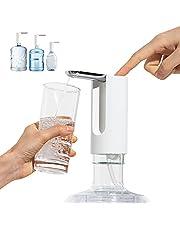 J JINPEI Flessen waterdispenser automatische drinkwaterpomp elektrisch inklapbaar met stuk levensmiddelen, siliconenslang voor thuiskantoor, camping, barbecue, buiten en binnen