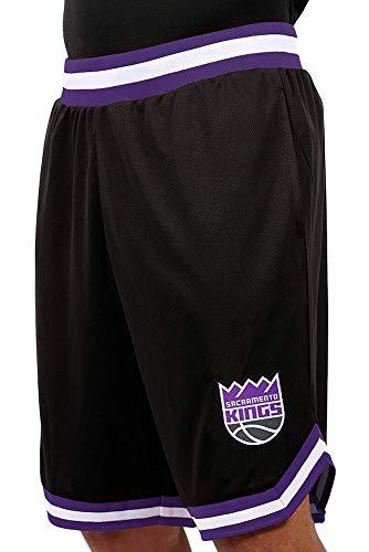 Ultra Game NBA Sacramento Kings Mens Woven Basketball Shorts, Team Color, XX-Large