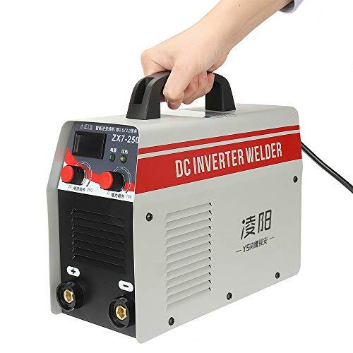 Soldador eléctrico de 220 V, 20-250 A, con pantalla digital, máquina de soldar portátil, soldadura de arco inverter IGBT, grosor de soldadura 2-6 mm