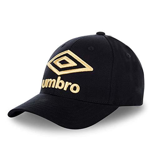 Umbro T100-1 Gorra de béisbol, Dorado (Negro/Bordado Dorado 0), One Size (Tamaño del Fabricante:Talla única) para Hombre