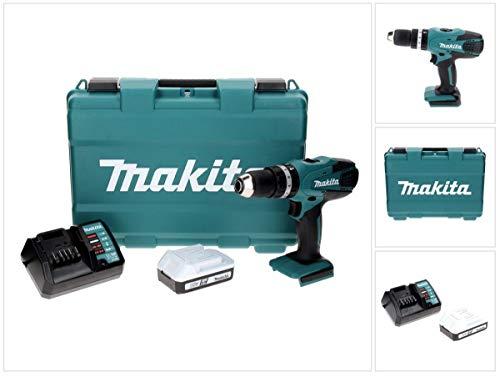 Makita HP457DW Perceuse visseuse à Percussion + 1 Batterie 18V 1.5Ah Li-ION + Chargeur + Coffret