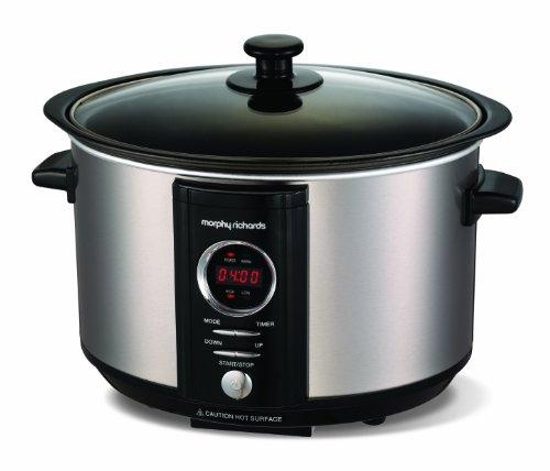 Morphy Richards Accents Digital Slow Cooker 3.5L 460004 Brushed Steel...