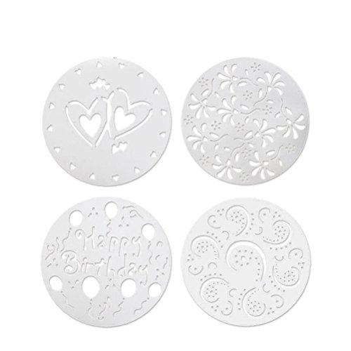 Bestonzon Lot de 4 emporte-pièces ronds pour gâteau 20,3 cm