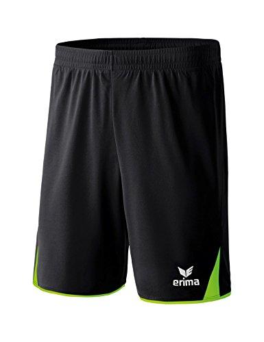 ERIMA Herren Shorts 5-Cubes Shorts, schwarz/green gecko, L, 6161801