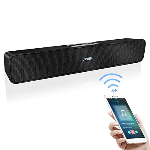 URORU スピーカー Bluetooth TV PC スマートフォン Uディスク AUX接続に対応した大音量の深みのある低音で、長時間の連続再生が可能…