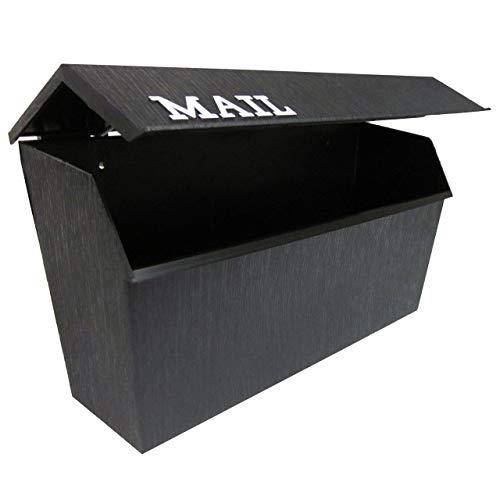 Fulton 8000 Horizontal Plastic Mailbox - Black