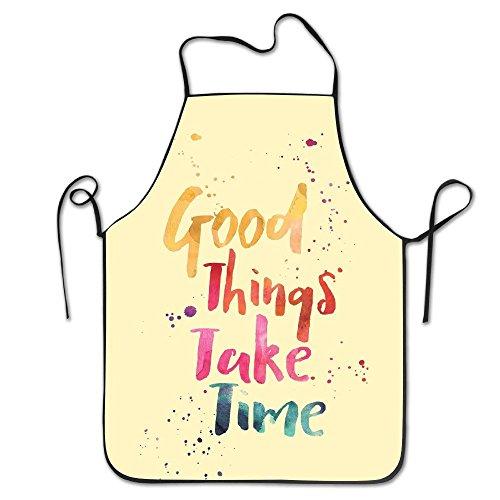 Tabliers de cuisine YUANDAN Good Things Take Time simple pour adultes, tabliers pour enfants, tabliers de peinture en vrac pour enfants, tabliers de cuisine pour enfants