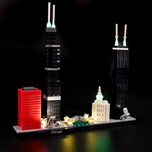 LIGHTAILING Licht-Set Für (Architecture Chicago) Modell - LED Licht-Set Kompatibel Mit Lego 21033(Modell Nicht Enthalten)