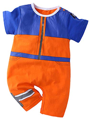 Coolbebe Baby Boy Naruto Costume Cosplay Romper (12-18 Months, Orange)