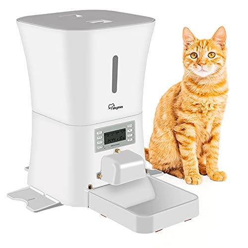 SKYMEE Petreat AI - Mangiatoia automatica per animali domestici, per cani e gatti, controllo delle porzioni, registrazione vocale, timer programmabile fino a 4 pasti al giorno